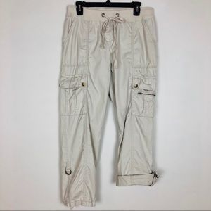 Ann Taylor Womens Cargo Pants Khaki Size 6